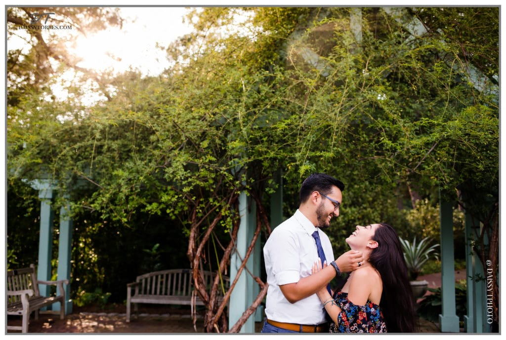 Norfolk Botanical Garden Golden Hour Proposal
