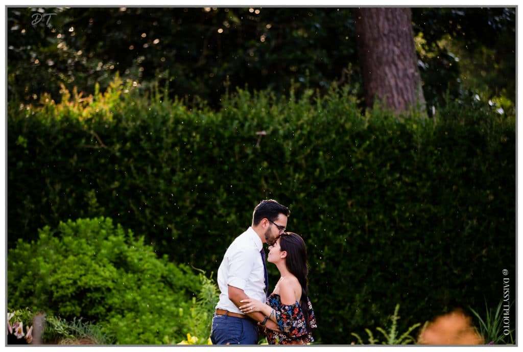 Norfolk Botanical Garden Surprise Proposal Rain