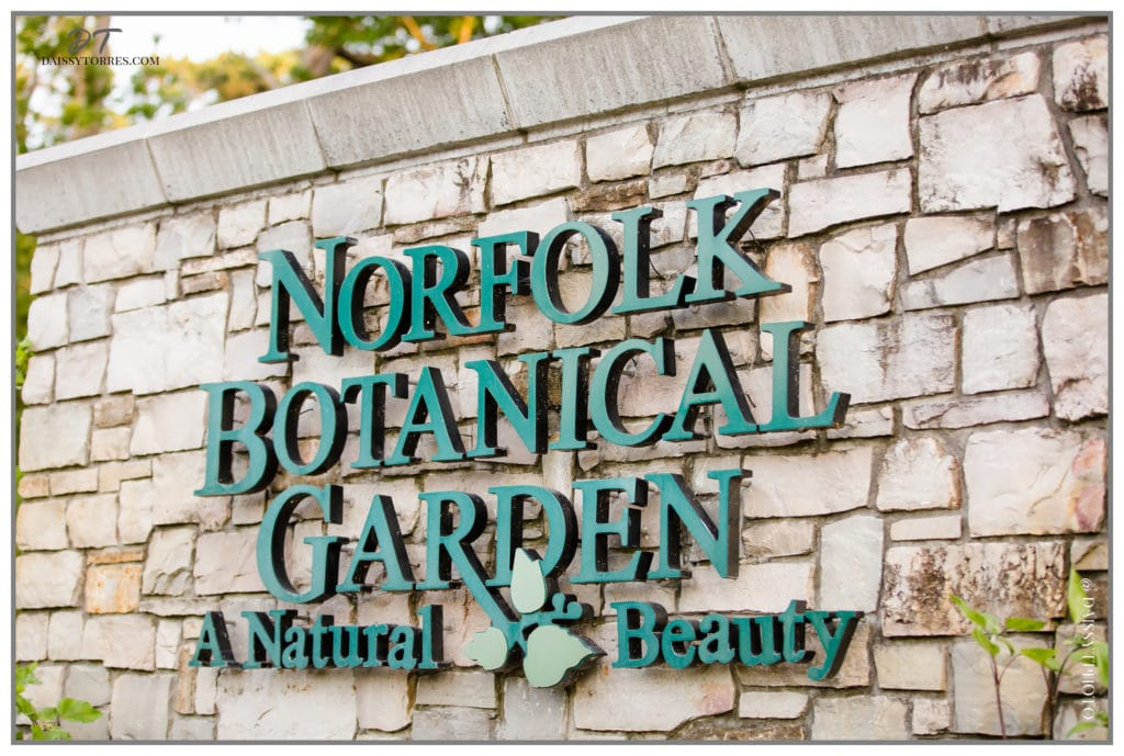 Norfolk Botanical Garden Sign