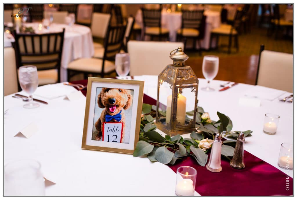 Unique wedding centerpieces with dog