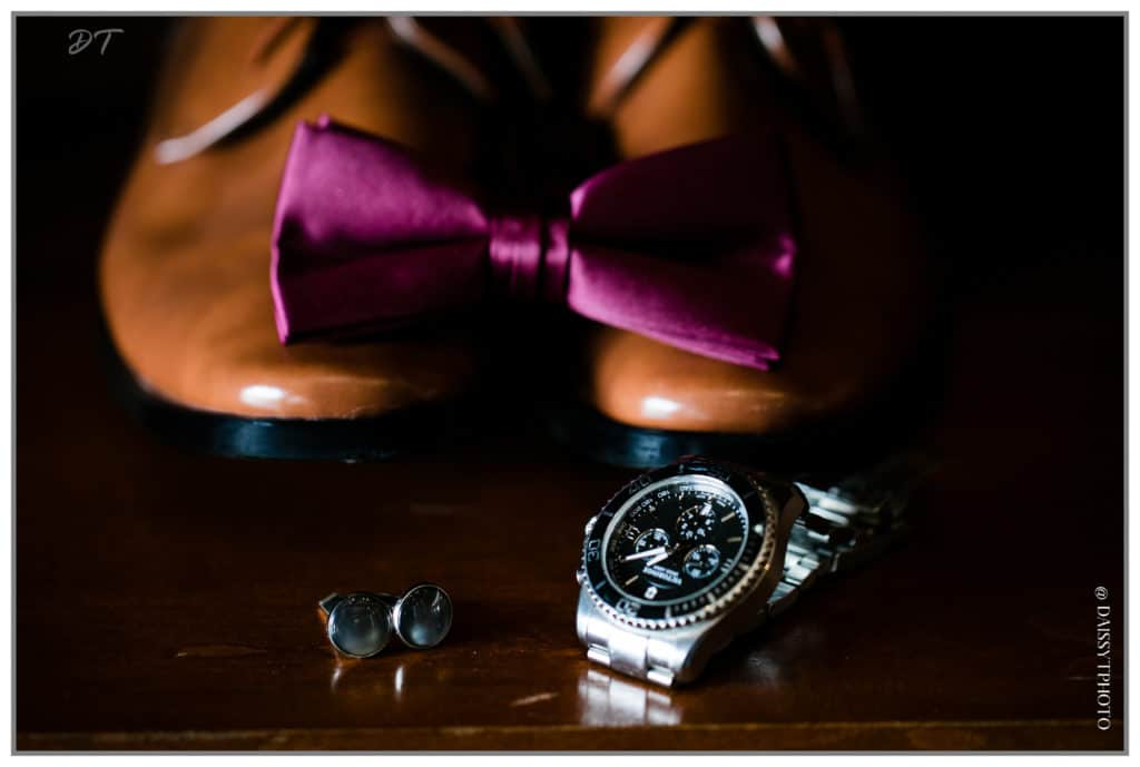 Groom watch and shoes