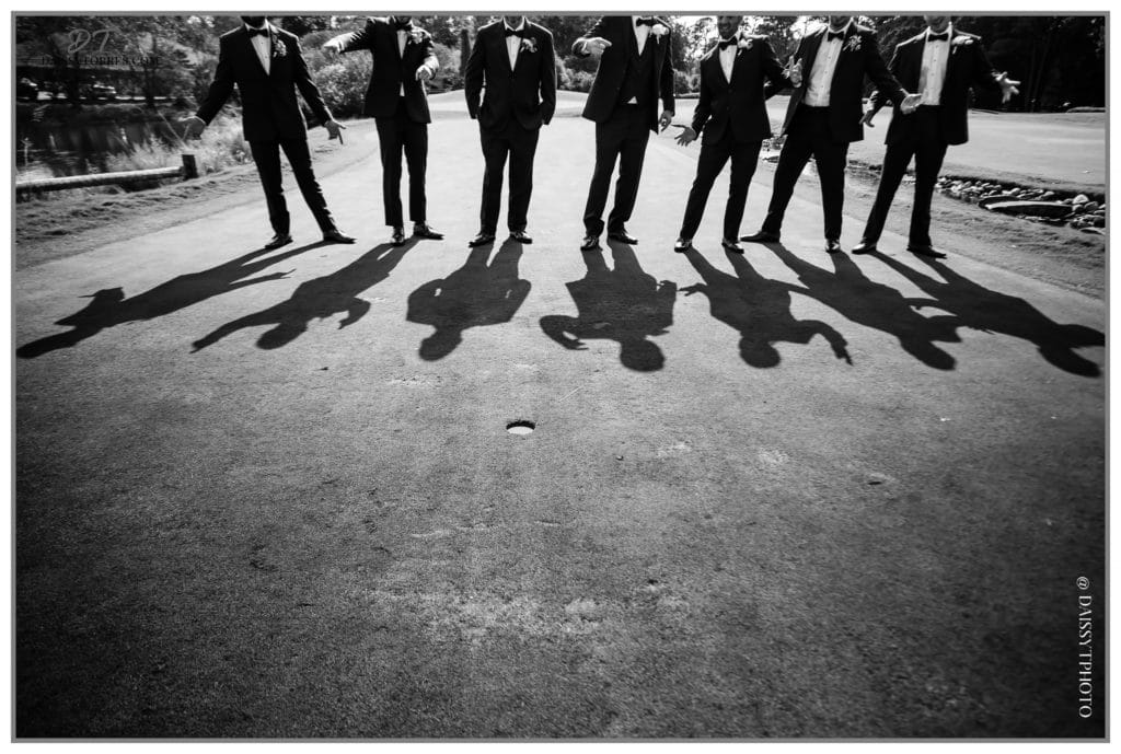Groomsmen portrait creative