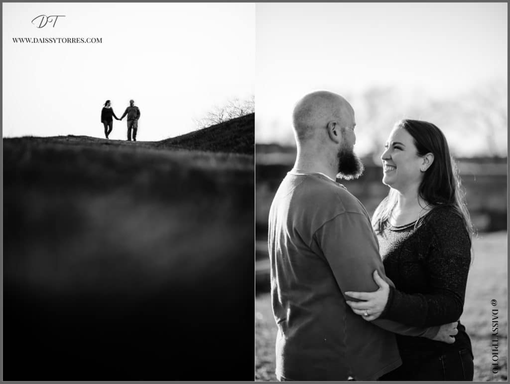 Fort Monroe black and white Session